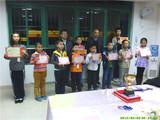第三届迎新杯围棋赛低段组前八名获奖合影